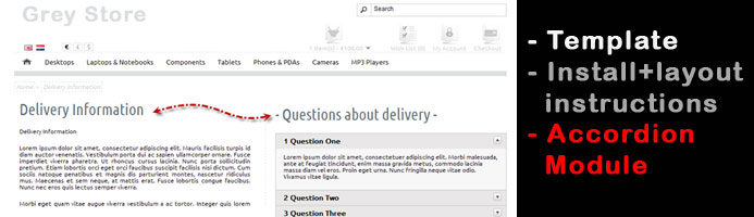 OpenCart theme Greystore + FAQ extension